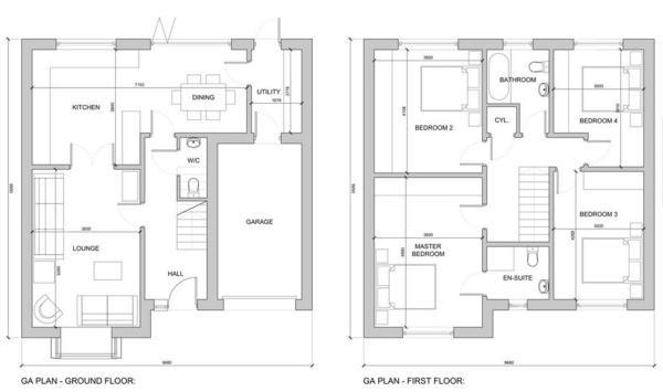 Plot 2 plans Orchard View Housing Development, Heanor, Derbyshire